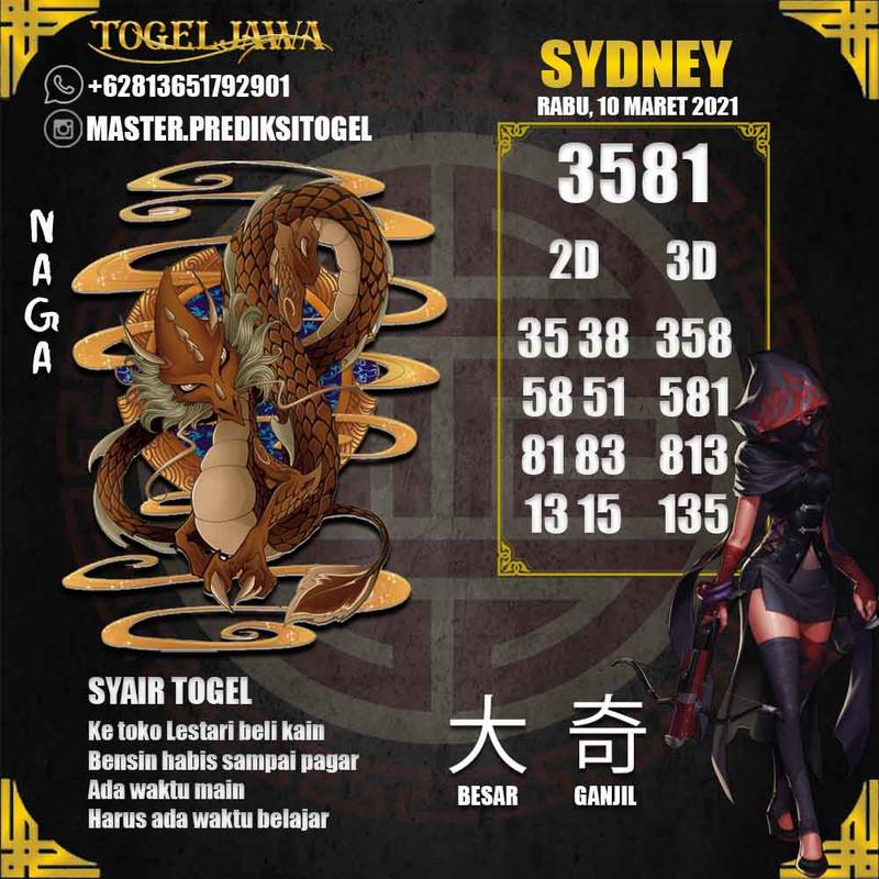Prediksi Sydney Tanggal 2021-03-10