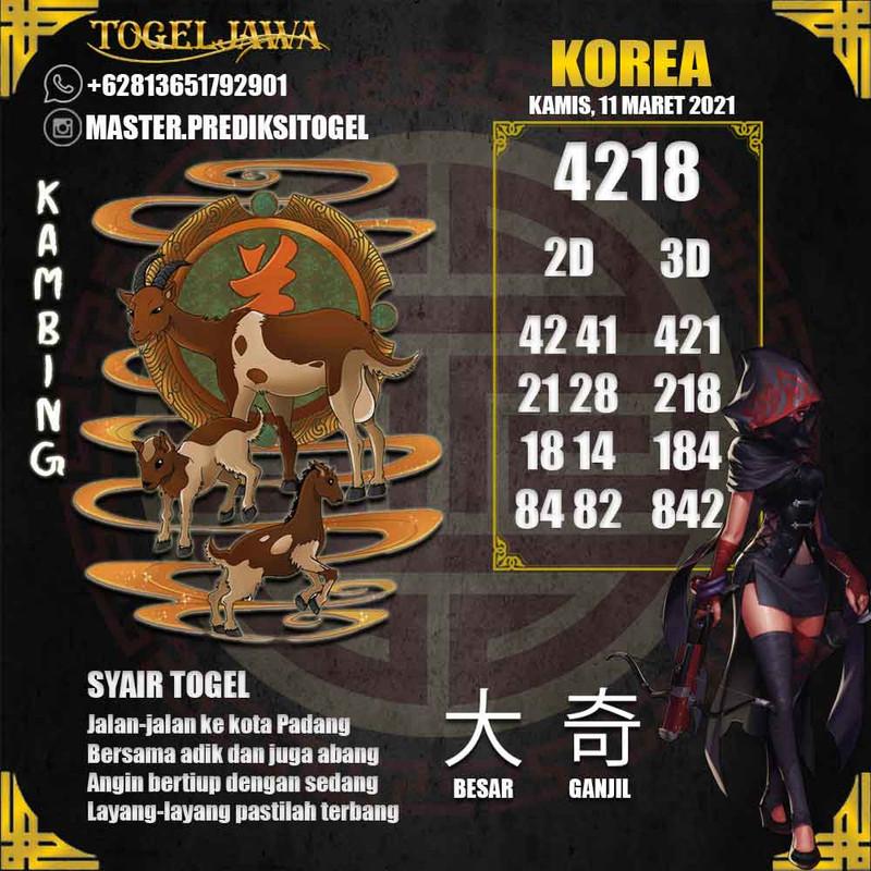 Prediksi Korea Tanggal 2021-03-11
