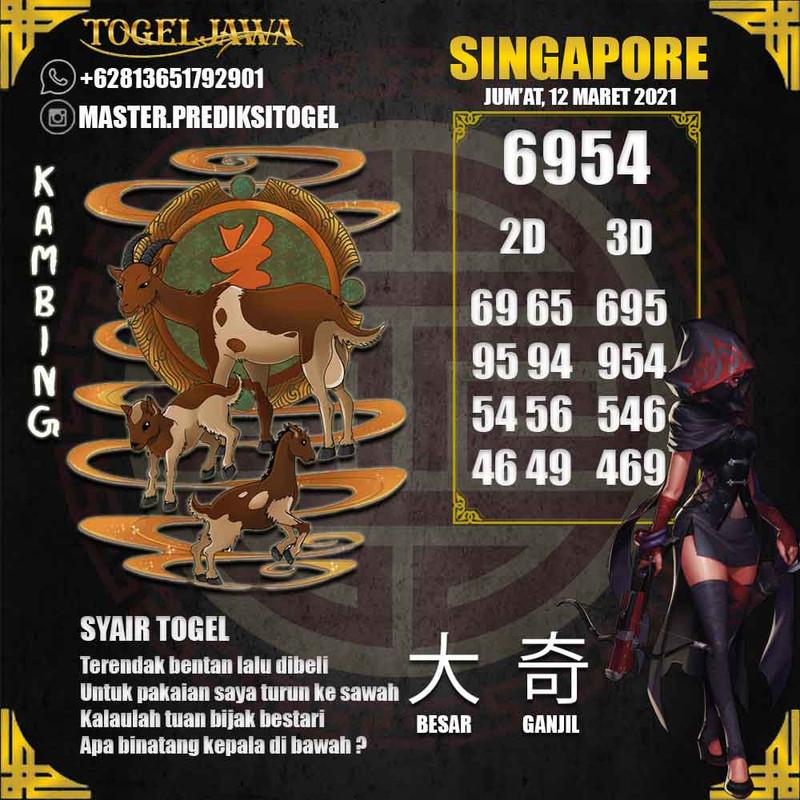Prediksi Singapore Tanggal 2021-03-12