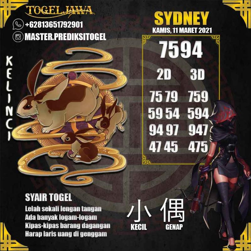 Prediksi Sydney Tanggal 2021-03-11