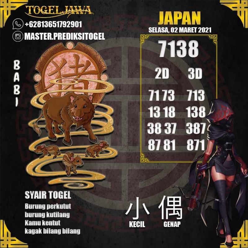 Prediksi Japan Tanggal 2021-03-02