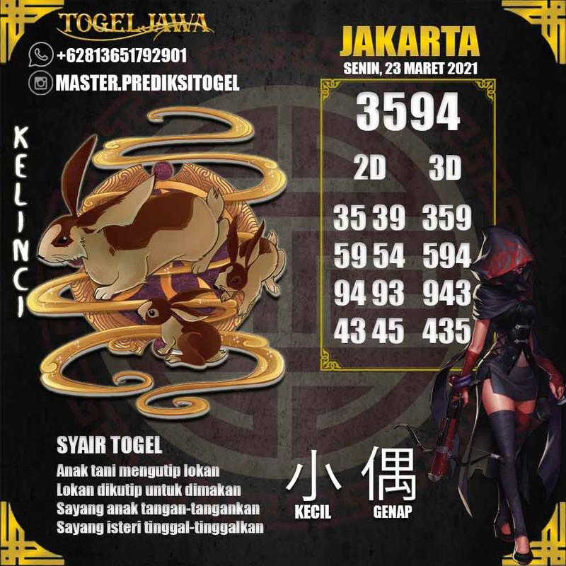 Prediksi Jakarta Tanggal 2021-03-23