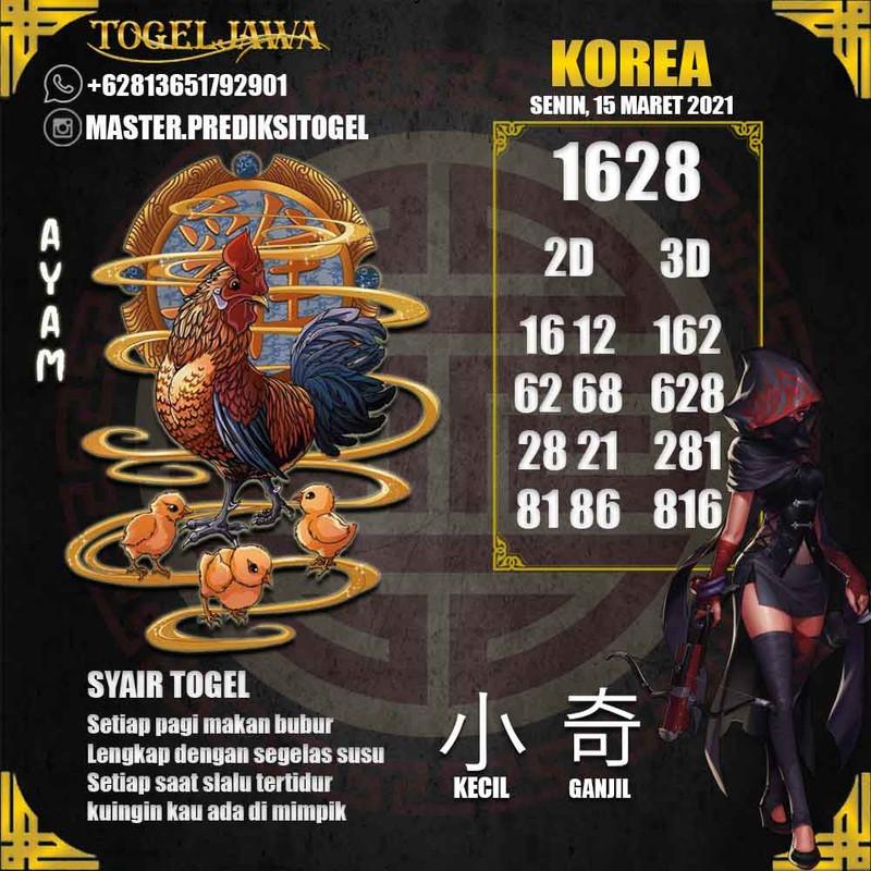 Prediksi Korea Tanggal 2021-03-15