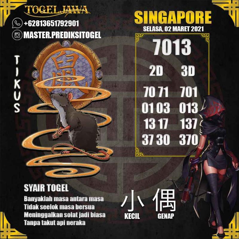 Prediksi Singapore Tanggal 2021-03-02