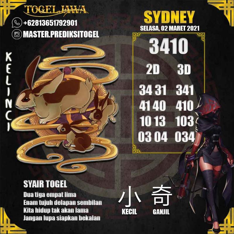 Prediksi Sydney Tanggal 2021-03-02