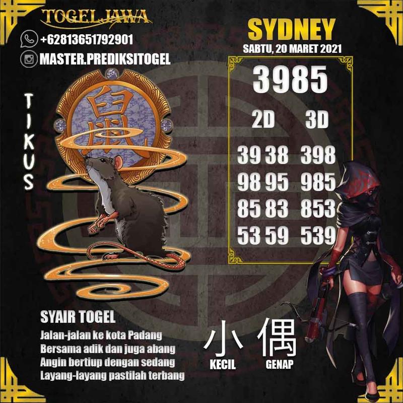 Prediksi Sydney Tanggal 2021-03-20