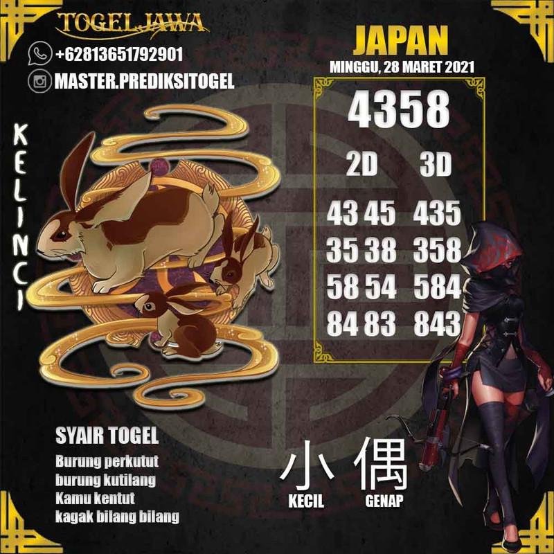 Prediksi Japan Tanggal 2021-03-28