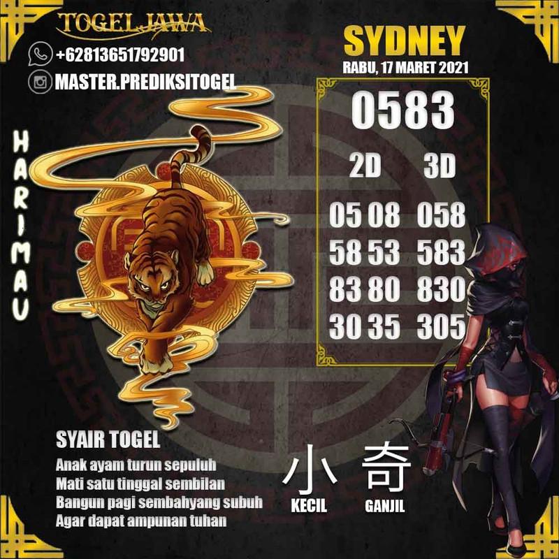 Prediksi Sydney Tanggal 2021-03-17