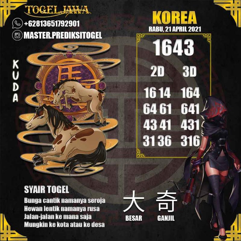 Prediksi Korea Tanggal 2021-04-21