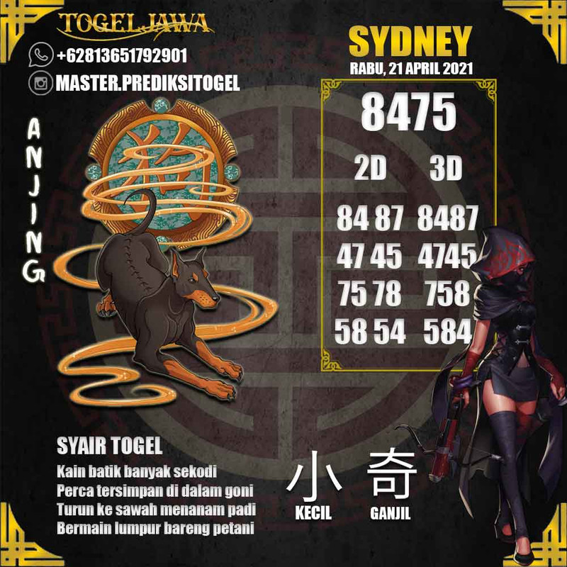 Prediksi Sydney Tanggal 2021-04-21