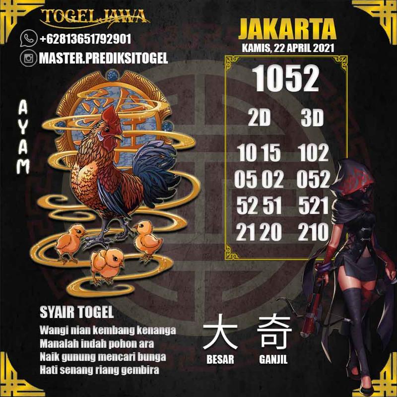 Prediksi Jakarta Tanggal 2021-04-22
