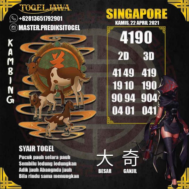 Prediksi Singapore Tanggal 2021-04-22
