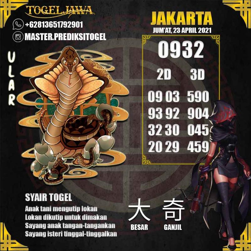 Prediksi Jakarta Tanggal 2021-04-23