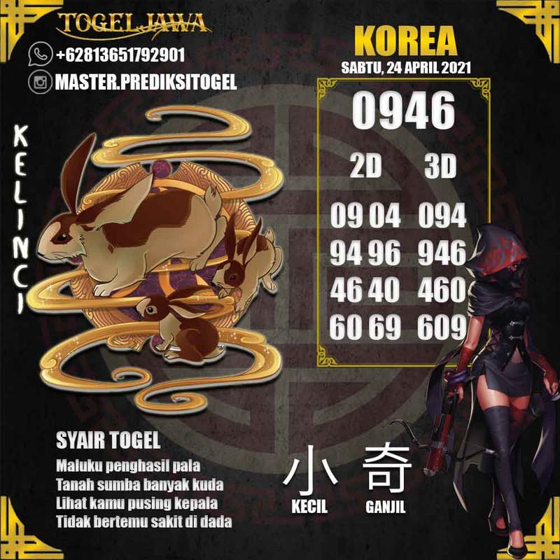Prediksi Korea Tanggal 2021-04-24