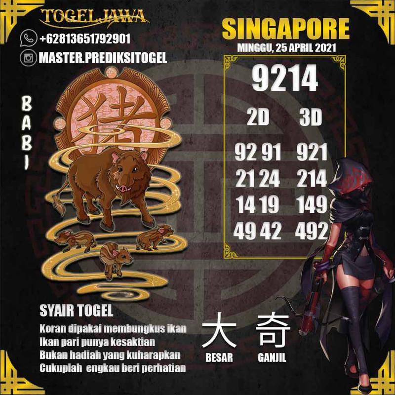 Prediksi Singapore Tanggal 2021-04-25