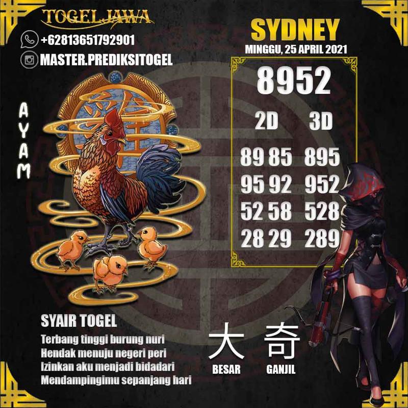 Prediksi Sydney Tanggal 2021-04-25