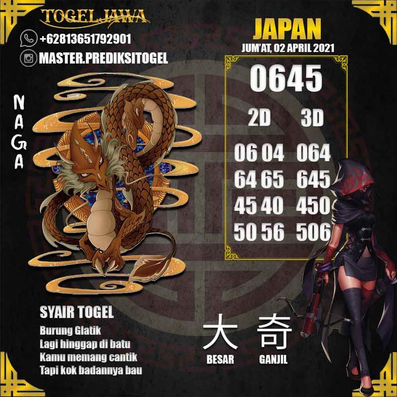 Prediksi Japan Tanggal 2021-04-02