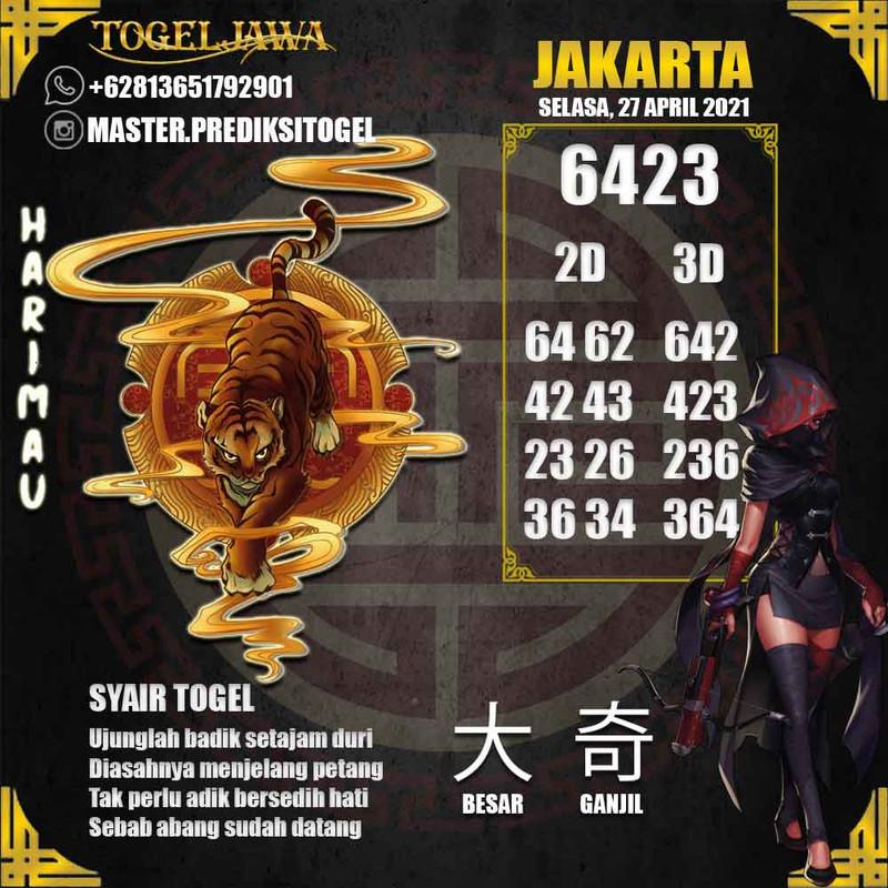 Prediksi Jakarta Tanggal 2021-04-27
