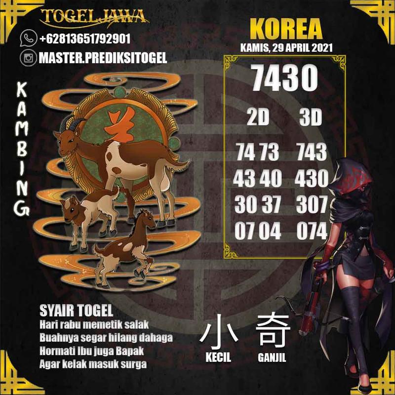 Prediksi Korea Tanggal 2021-04-29