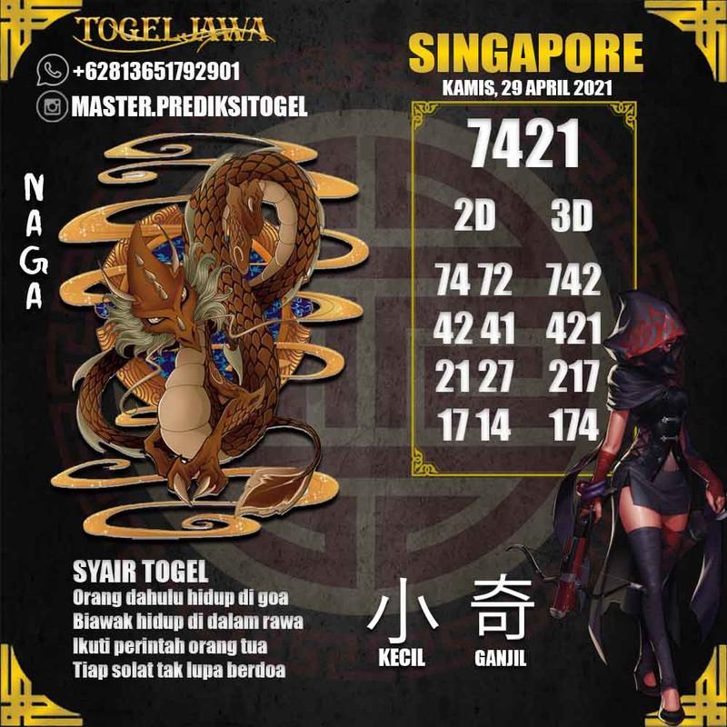 Prediksi Singapore Tanggal 2021-04-29