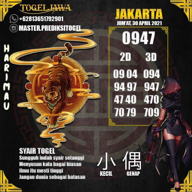 Prediksi Jakarta Tanggal 2021-04-30