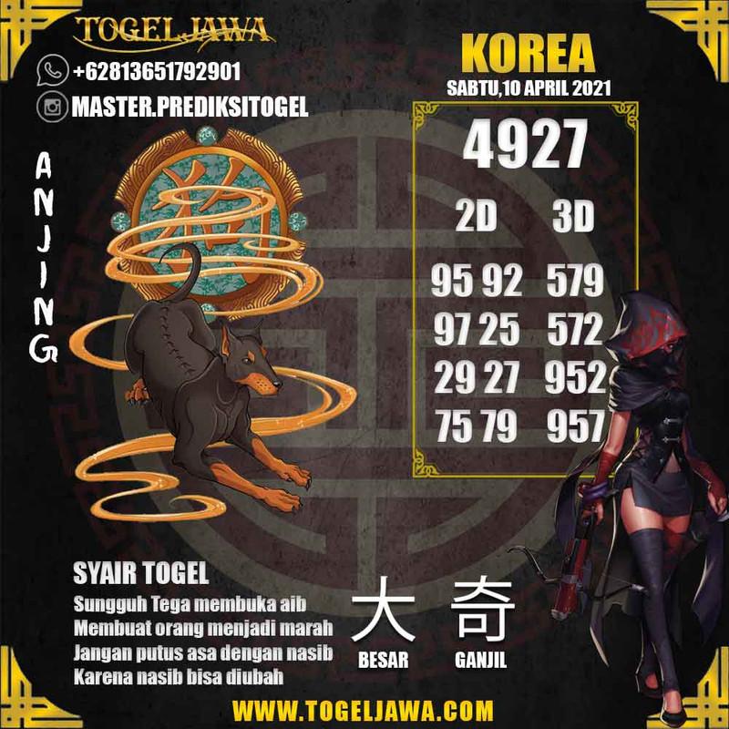 Prediksi Korea Tanggal 2021-04-10
