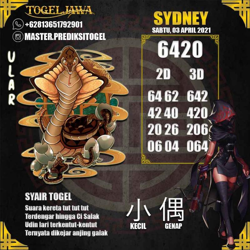 Prediksi Sydney Tanggal 2021-04-03