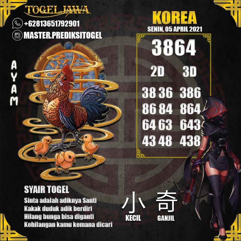 Prediksi Korea Tanggal 2021-04-05