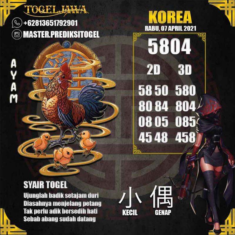 Prediksi Korea Tanggal 2021-04-07