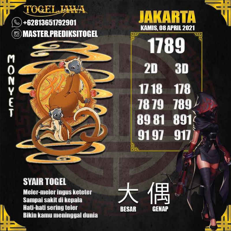 Prediksi Jakarta Tanggal 2021-04-08