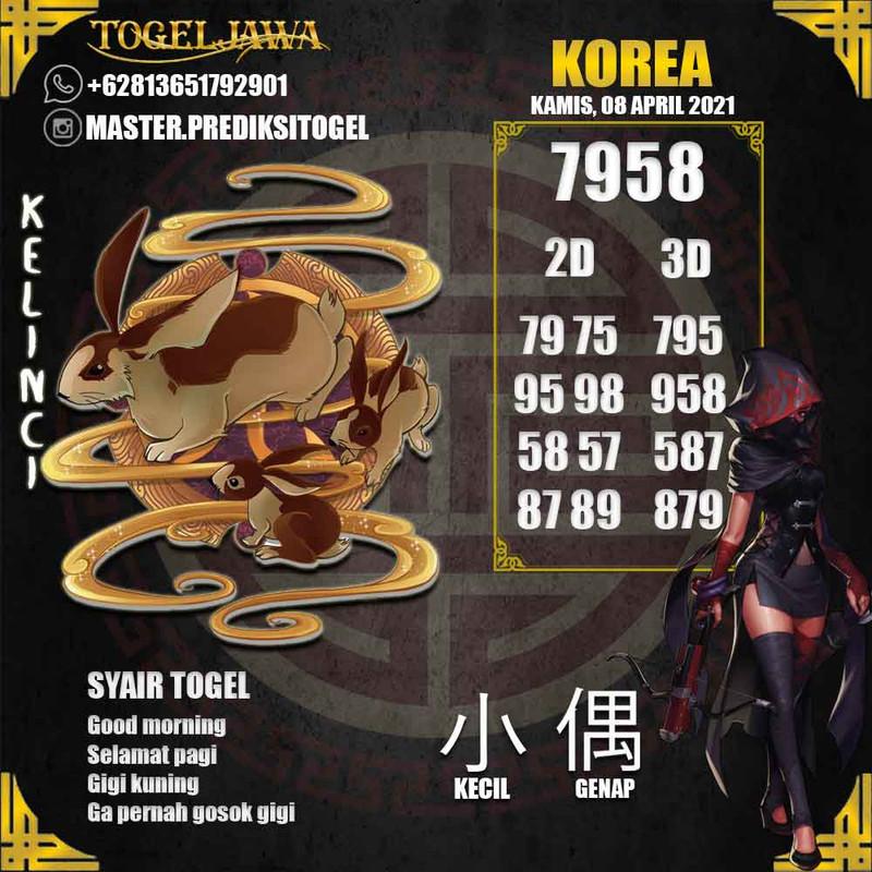 Prediksi Korea Tanggal 2021-04-08