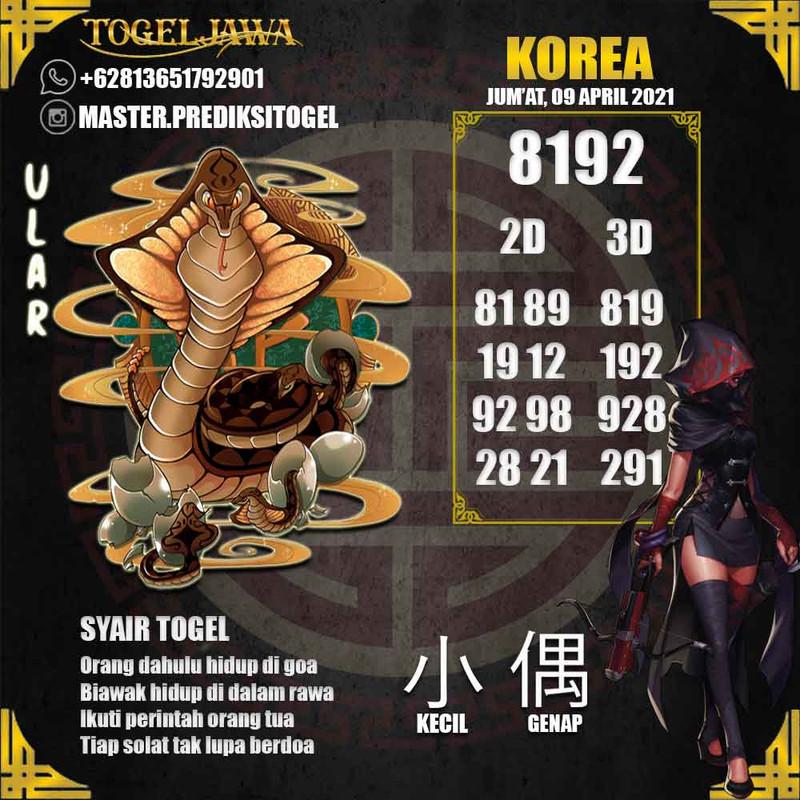 Prediksi Korea Tanggal 2021-04-09
