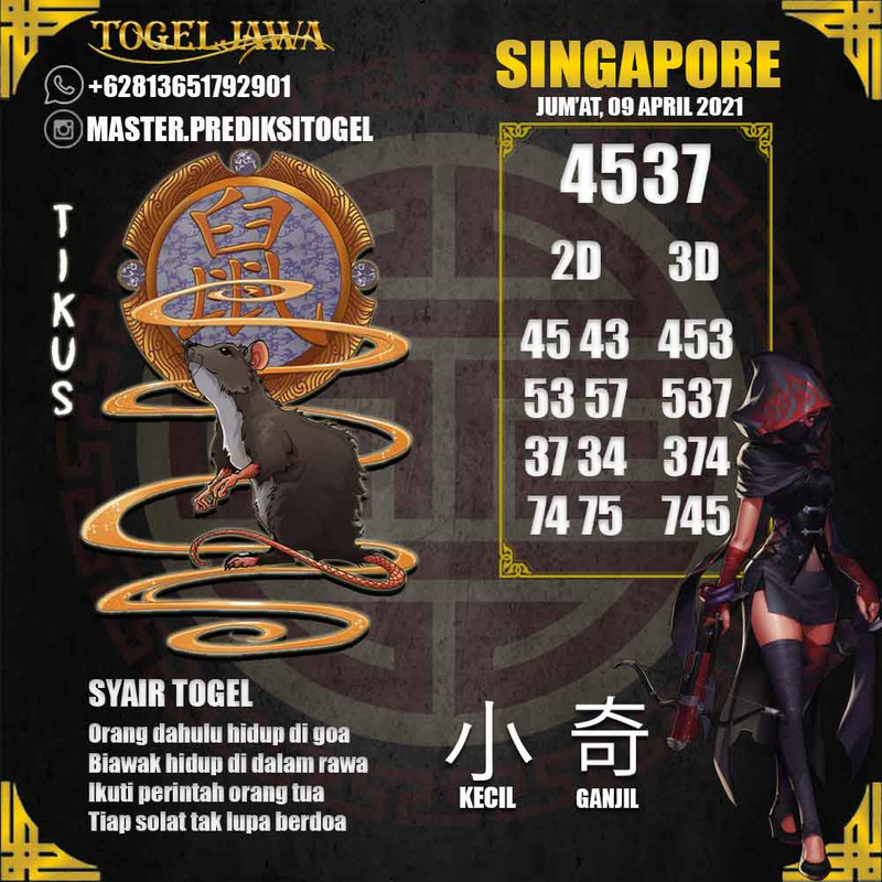 Prediksi Singapore Tanggal 2021-04-09