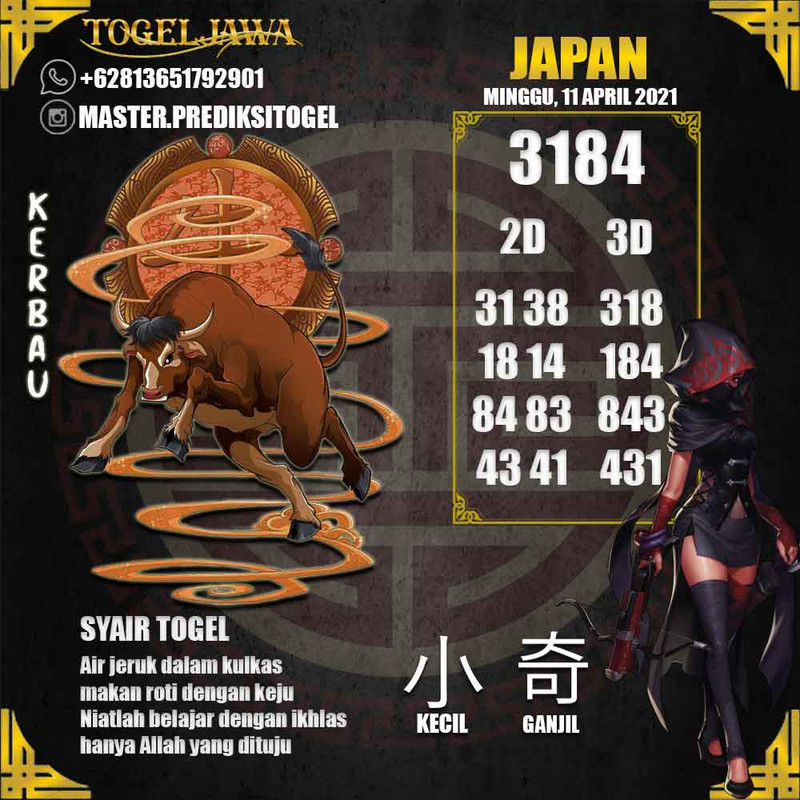 Prediksi Japan Tanggal 2021-04-11