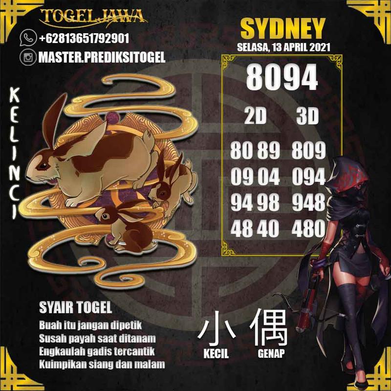 Prediksi Sydney Tanggal 2021-04-13