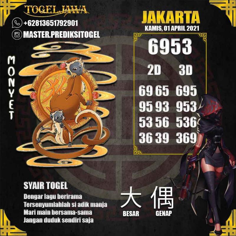 Prediksi Jakarta Tanggal 2021-04-01