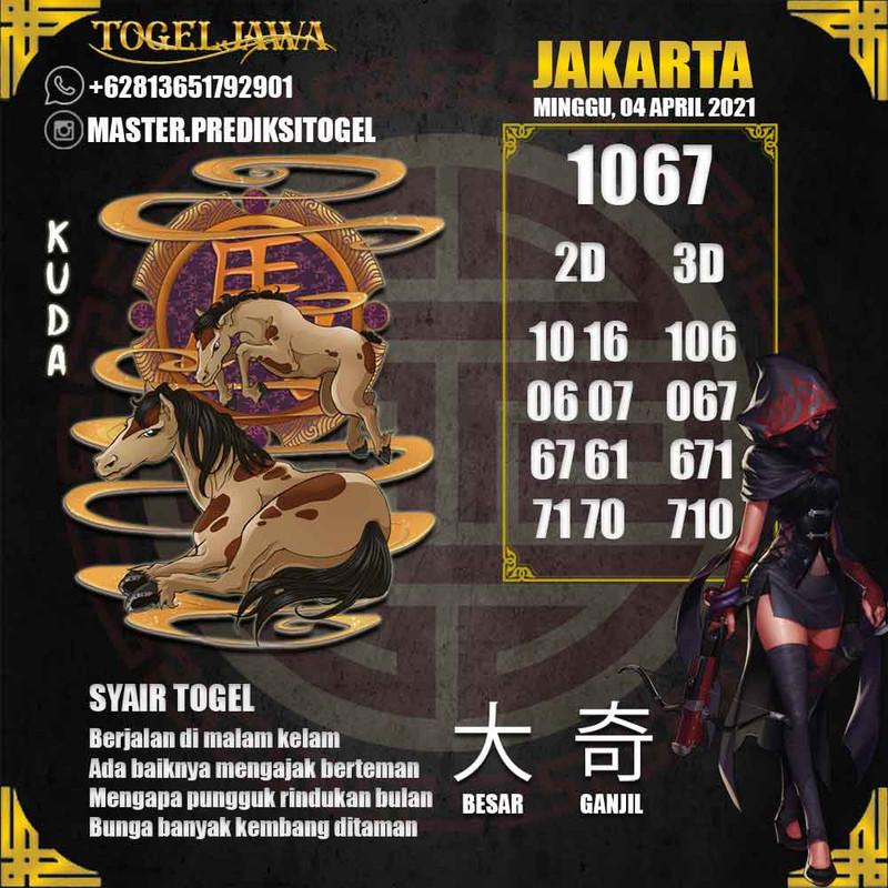 Prediksi Jakarta Tanggal 2021-04-04
