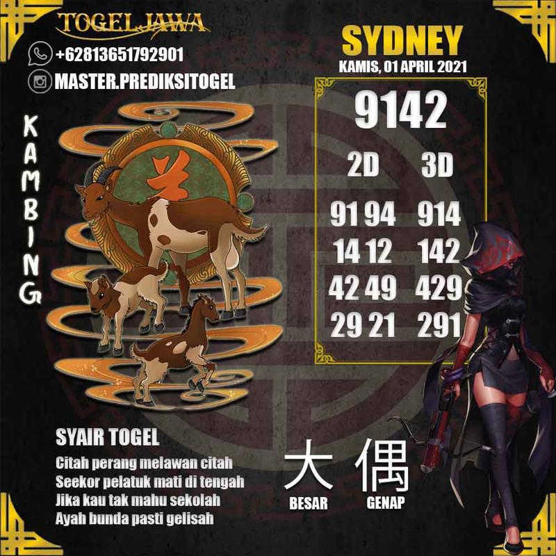 Prediksi Sydney Tanggal 2021-04-01