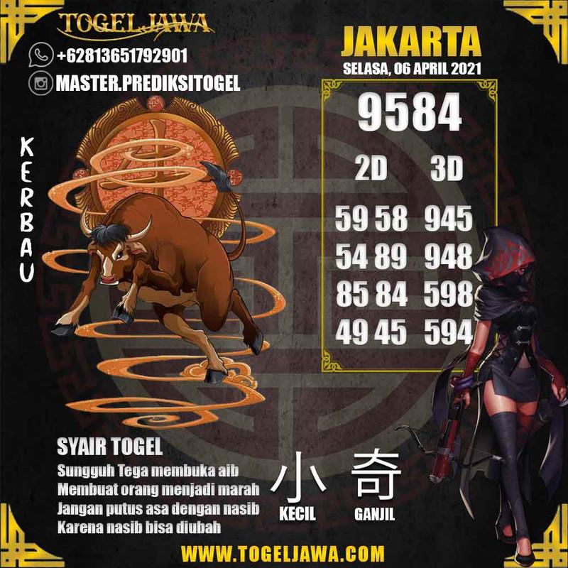 Prediksi Jakarta Tanggal 2021-04-06
