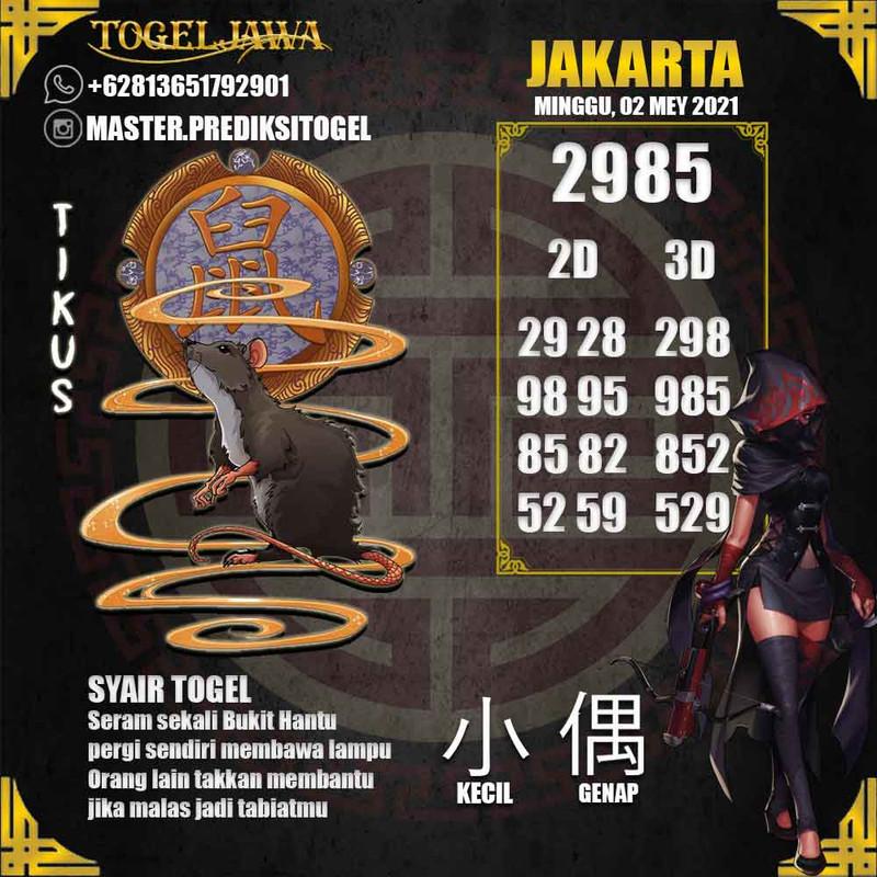 Prediksi Jakarta Tanggal 2021-05-02