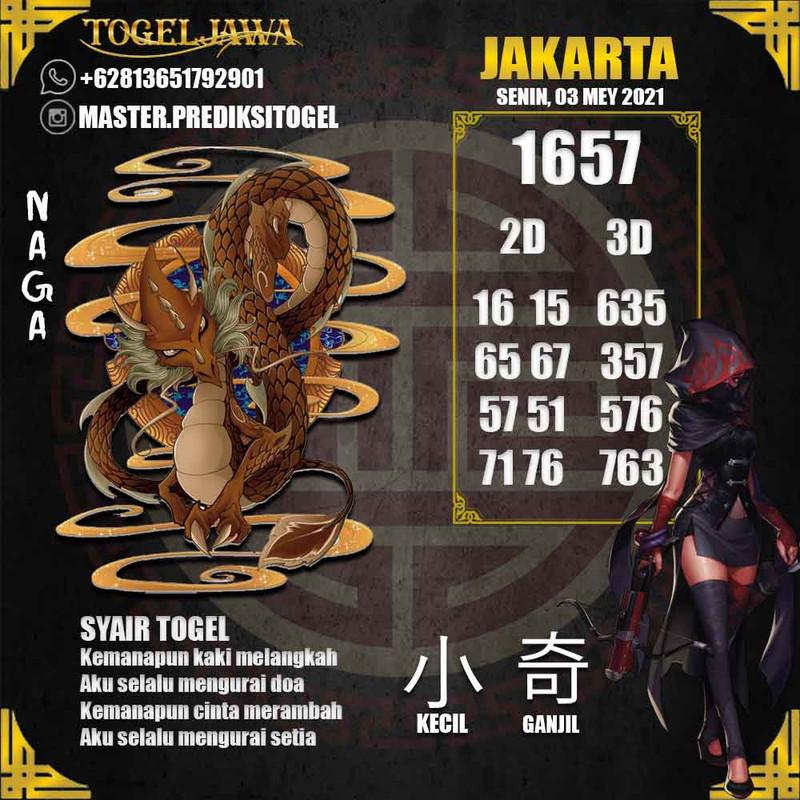 Prediksi Jakarta Tanggal 2021-05-03