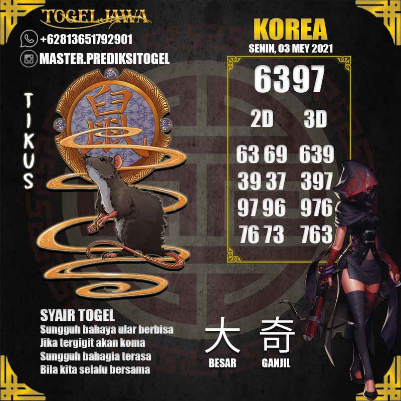 Prediksi Korea Tanggal 2021-05-03