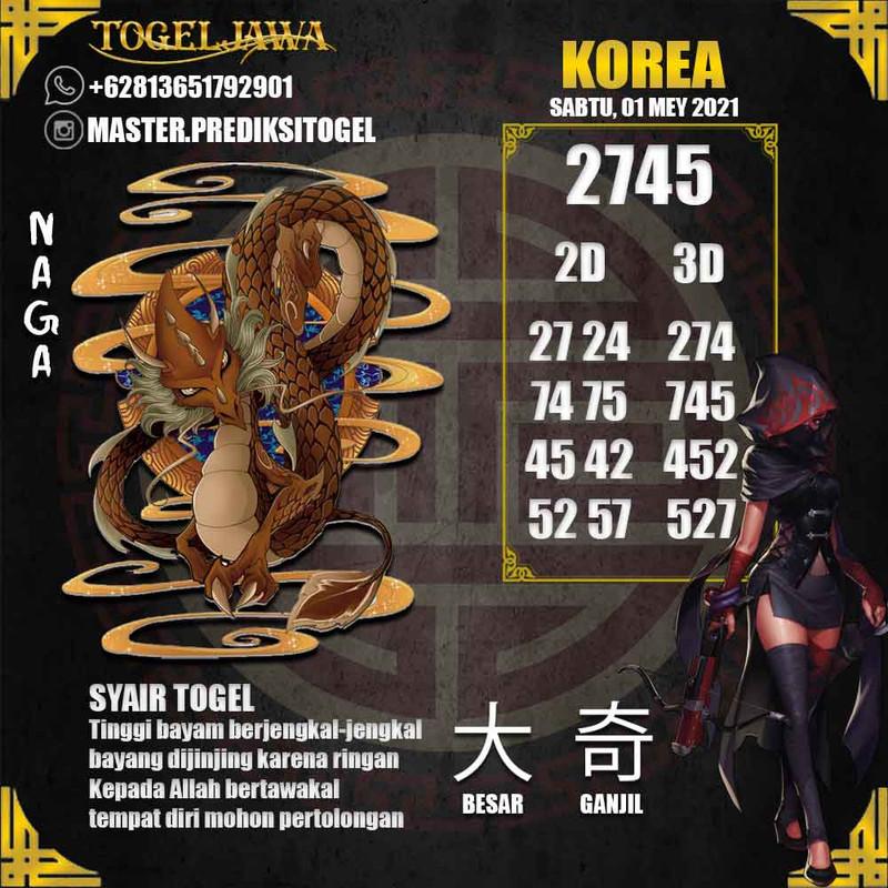 Prediksi Korea Tanggal 2021-05-01